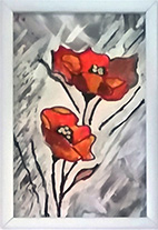 Poppies Amid the Grey